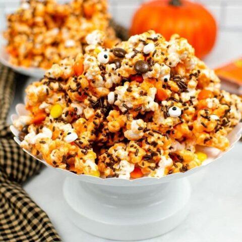 popcorn mix on stand