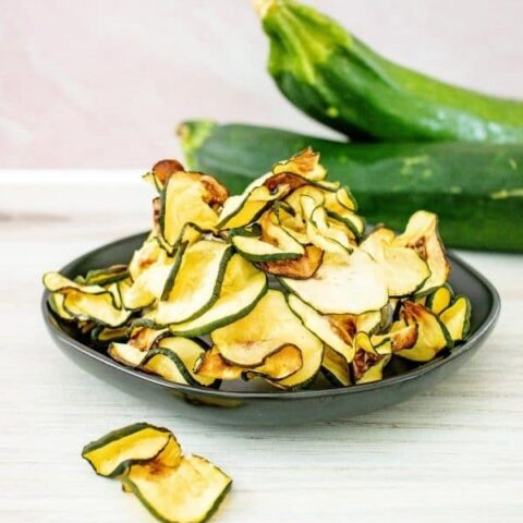 zucchini chips on a plate