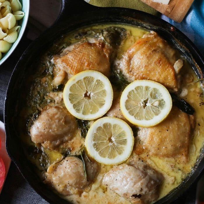 chicken thighs in lemon butter sauce
