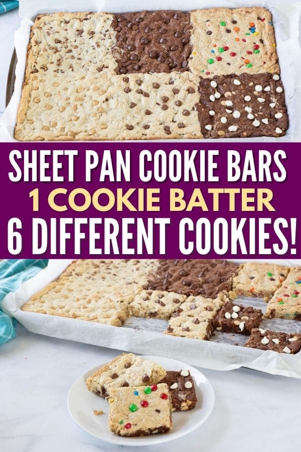 cookie bars on plate and in pan
