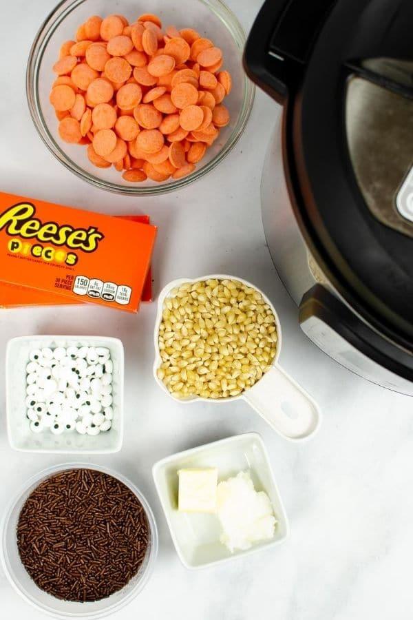 ingredients for popcorn mix