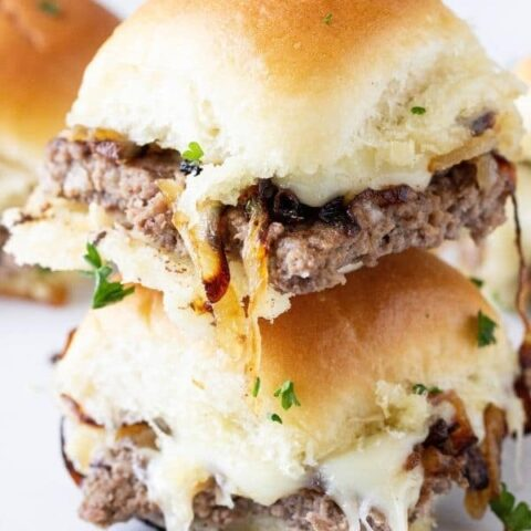 stacked hamburger sliders