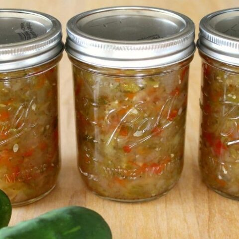 pickle relish in ball jars