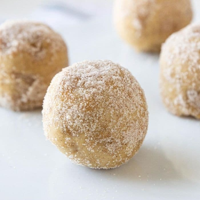 apple cider donut bites on white counter
