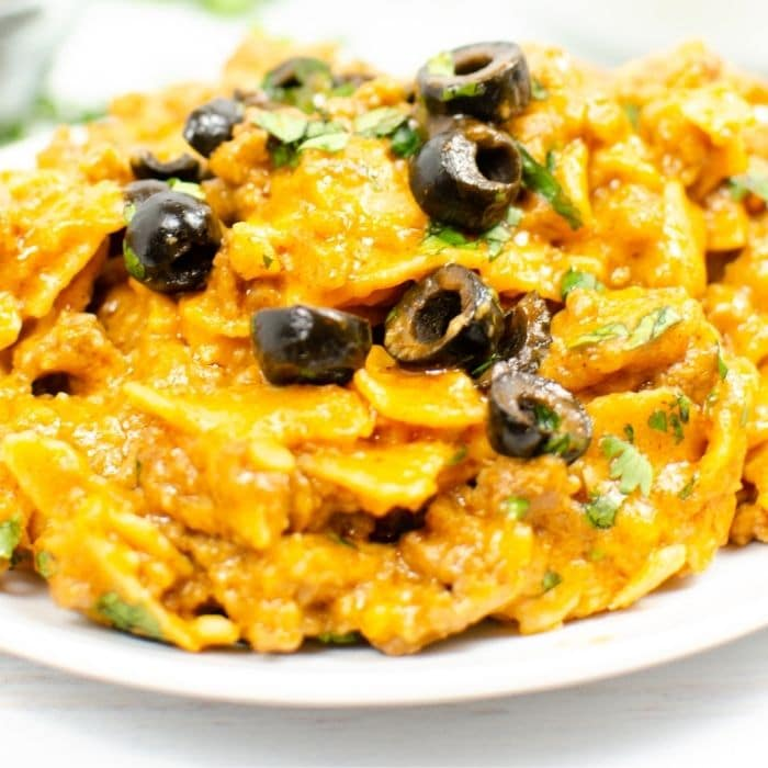 plate of Mexican casserole
