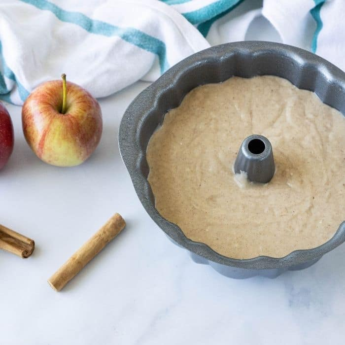 apple cider cake mix in bundt pan