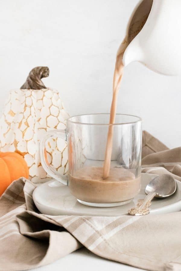 pumpkin dalgona coffee