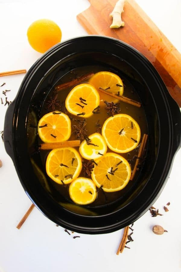 apple cider with mulled spice
