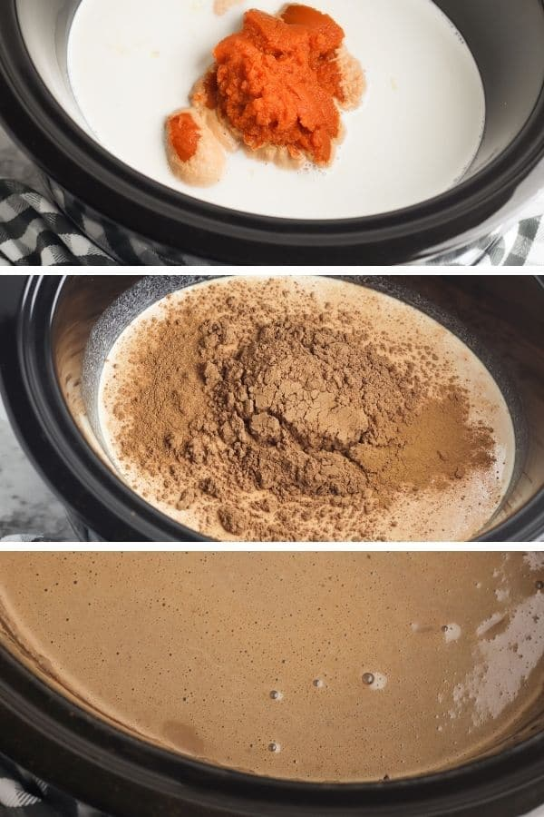 steps to making slow cooker hot chocolate