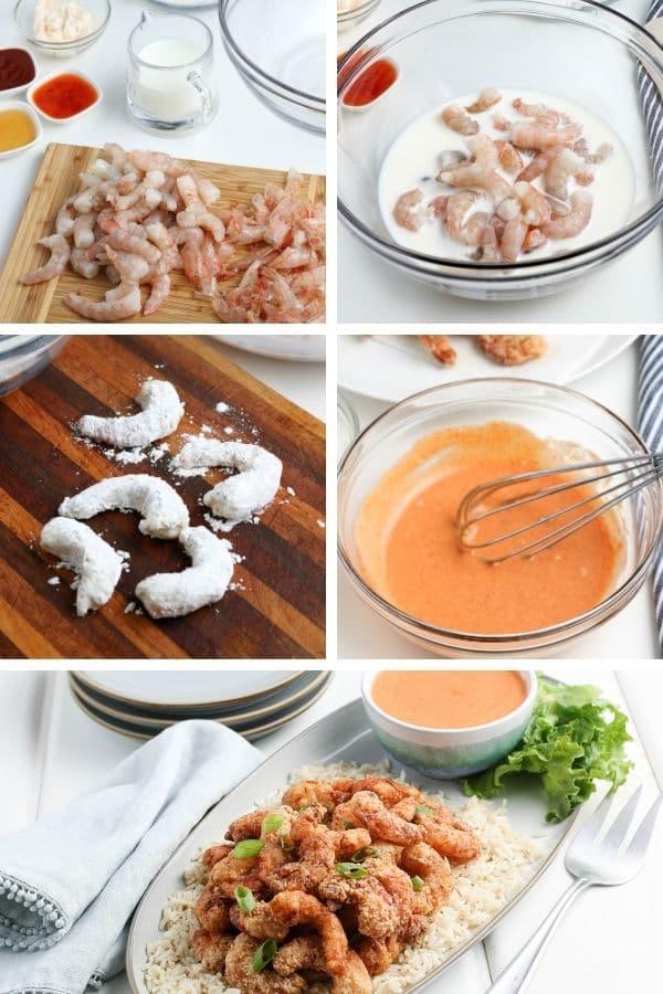 steps to make bang bang shrimp