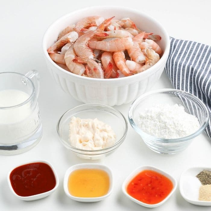 ingredients for breaded seafood