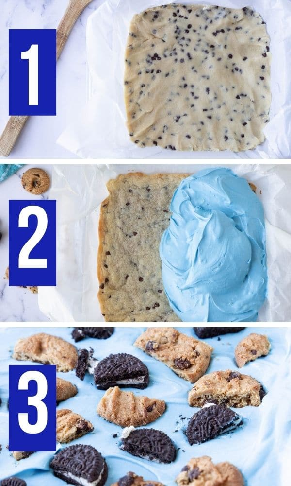 pictures on how to make cookie monster cheesecake bars