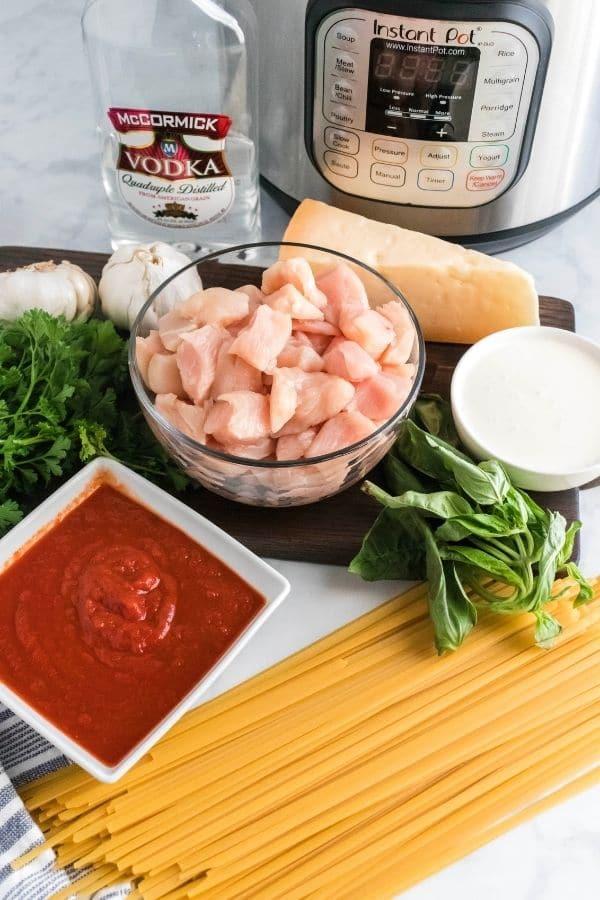 ingredients for vodka sauce in instant pot