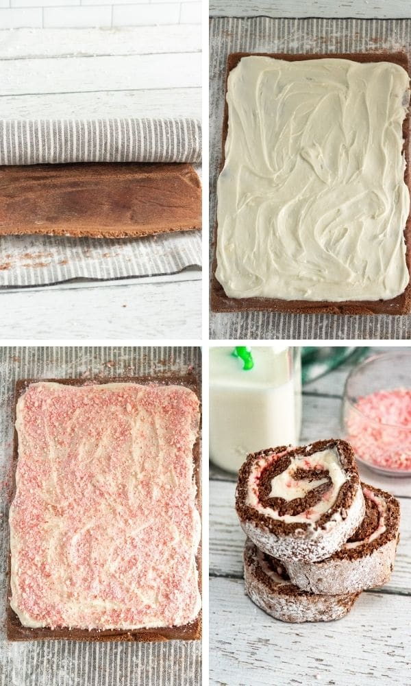 how to roll up a swiss roll cake