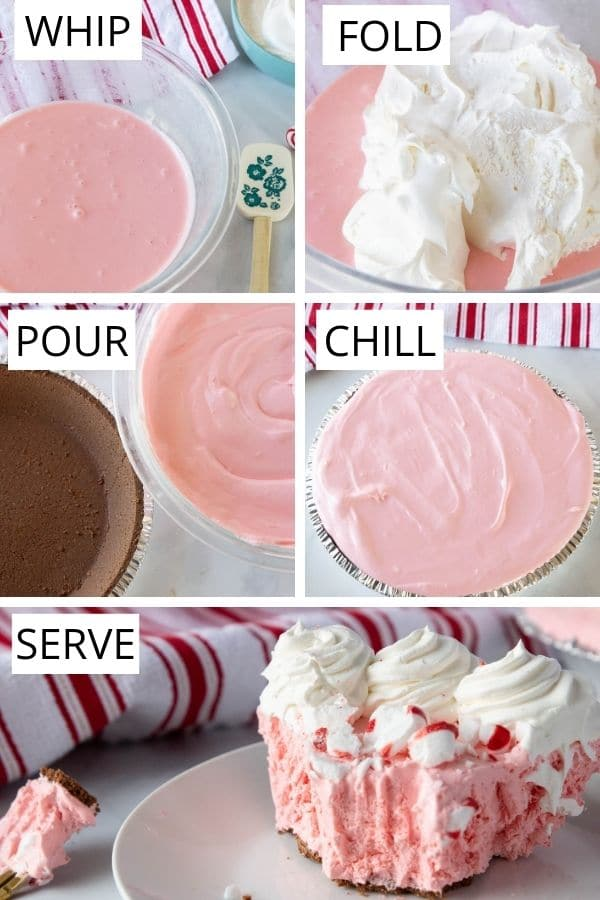 pictures and steps on how to make no bake cheesecake
