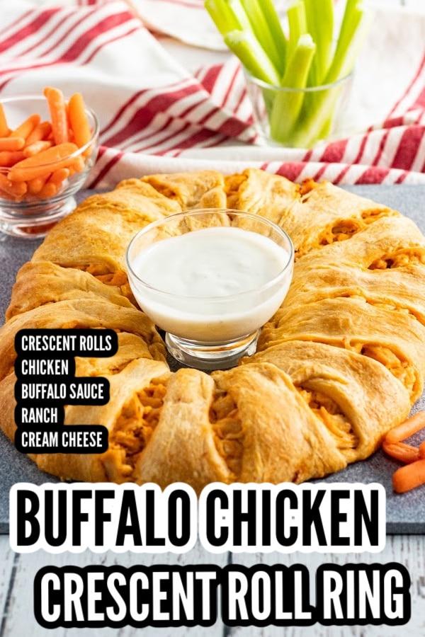 Buffalo Chicken Crescent roll ring