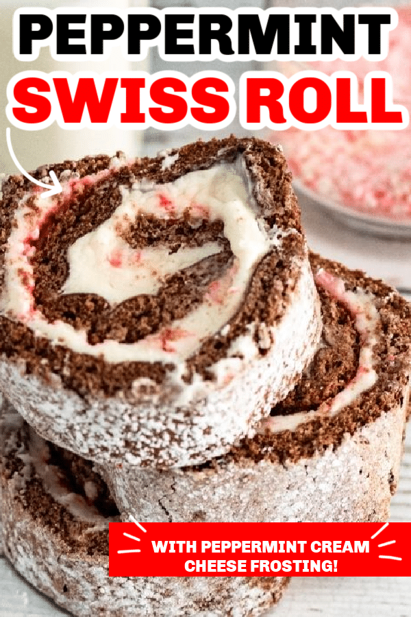 Peppermint Swiss Roll Cake