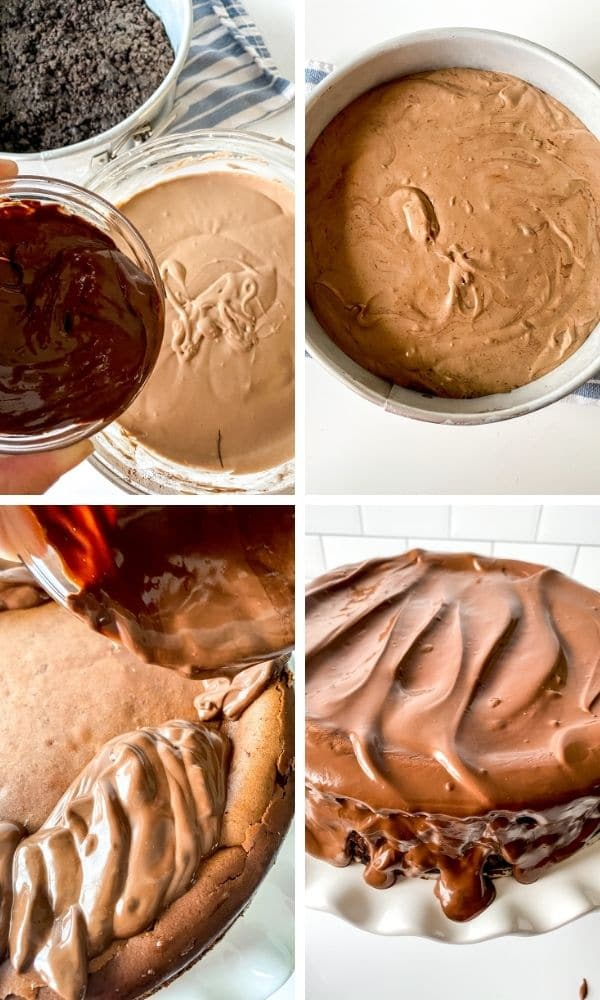 steps on how to make the death by chocolate cheesecake