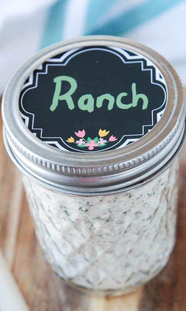 dry ranch seasoning in mason jar
