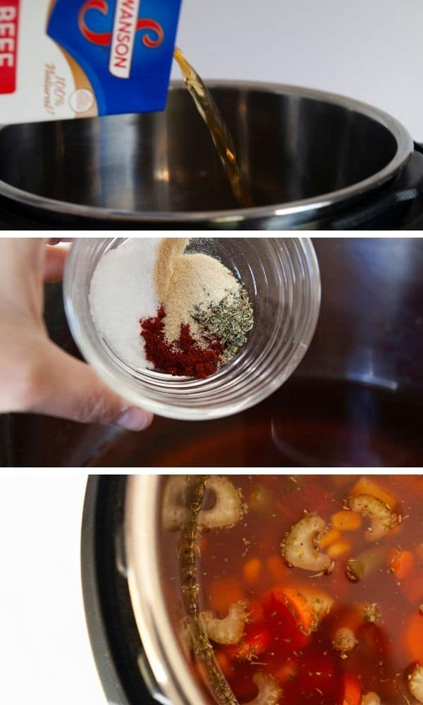 steps on how to make vegetable soup recipe