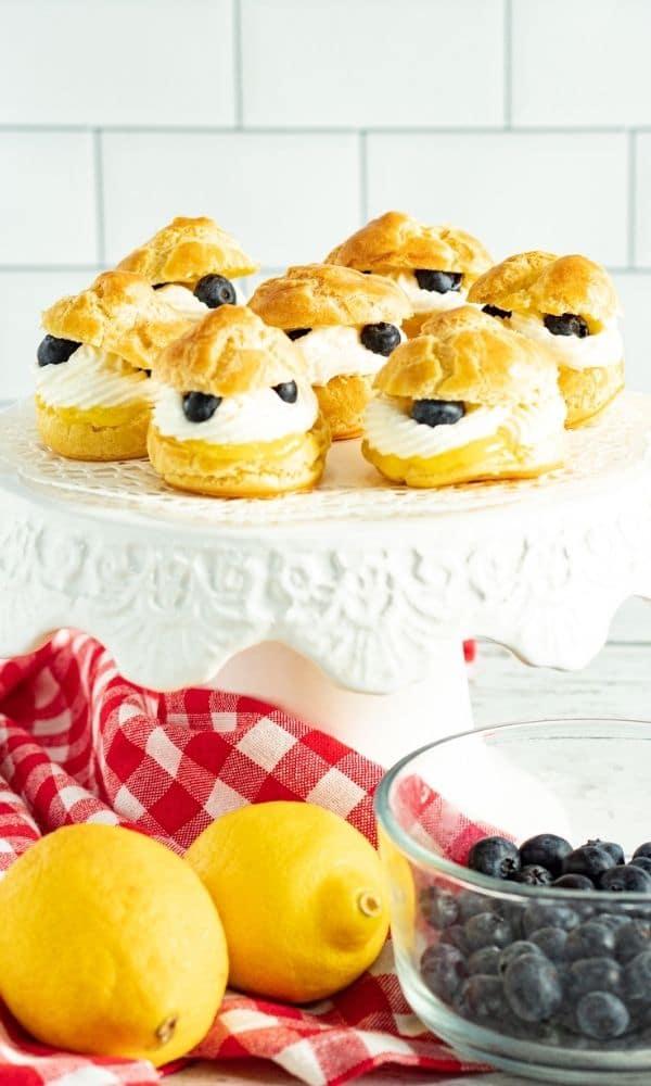lemon blueberry dessert on a cke tray