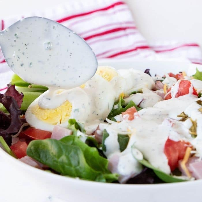horseradish ranch dressing with spoon