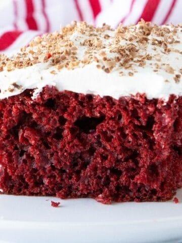 red velvet cake on a plate