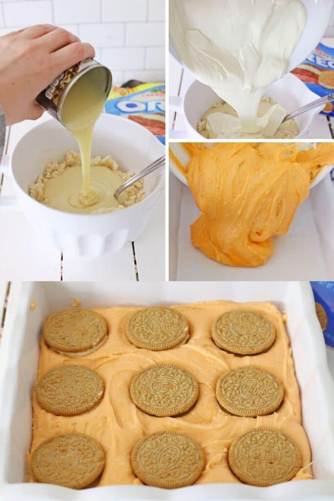 Oreo Carrot Cake Fudge steps on how to make