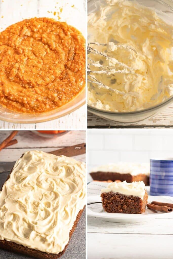 steps on how to make carrot cake bars
