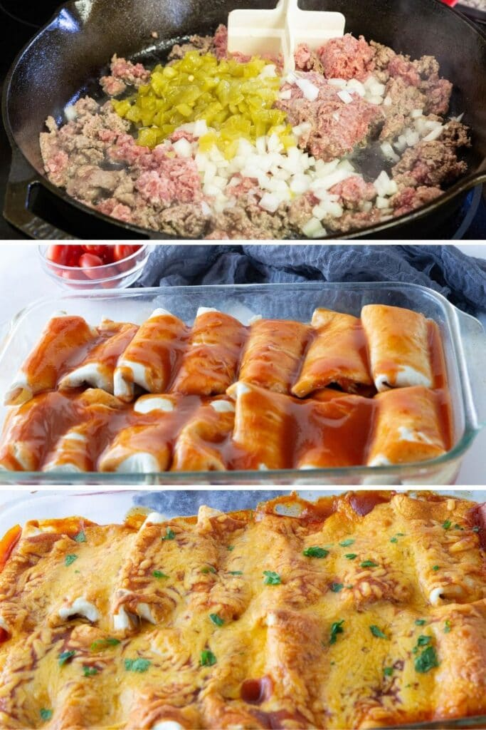 pictures on how to make easy enchiladas