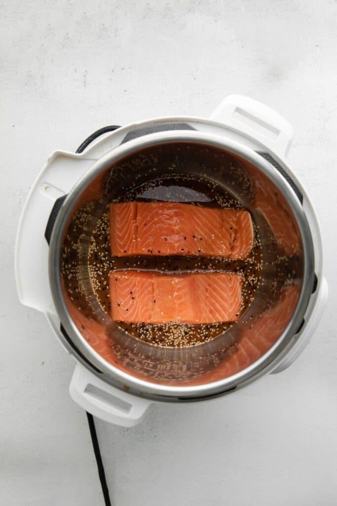 salmon filets in Instant Pot