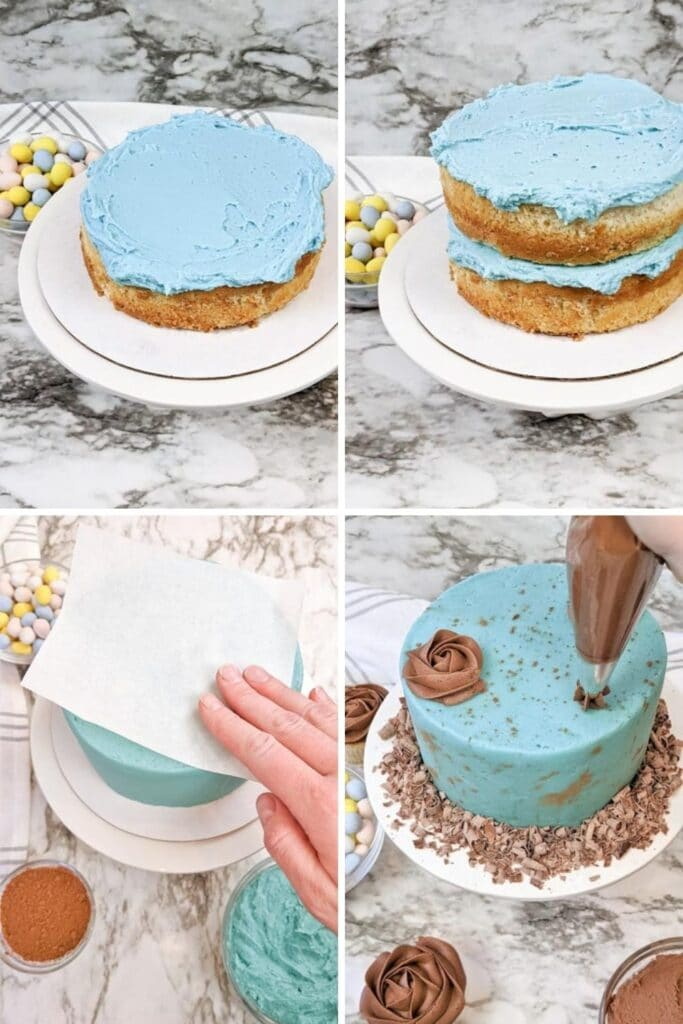 how to decorate layered cake