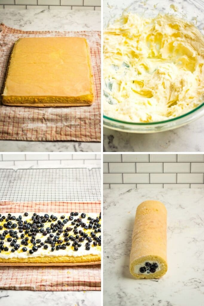 how to roll a loaf cake