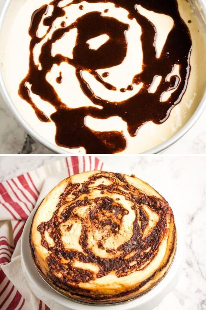 pressure cooker cinnamon roll cheesecake