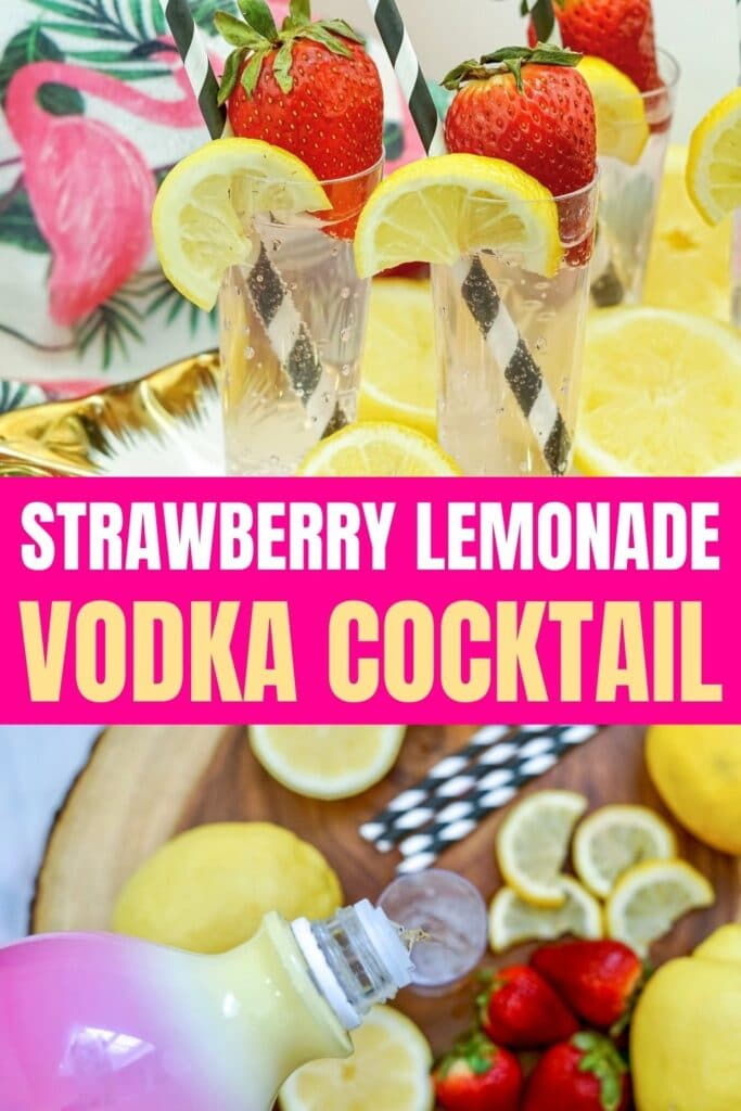 Strawberry Lemonade vodka cocktail
