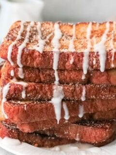 stack of French toast on a plate