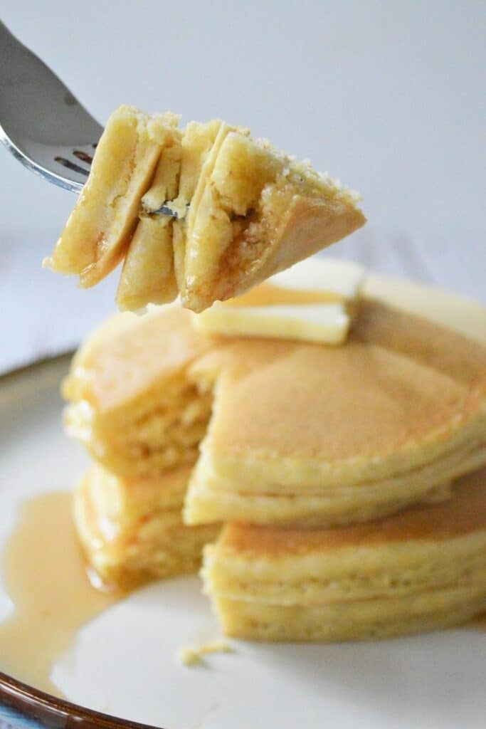 hoe cakes on a fork