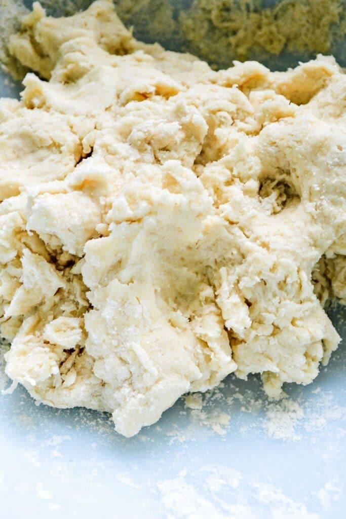 Scone dough in a bowl