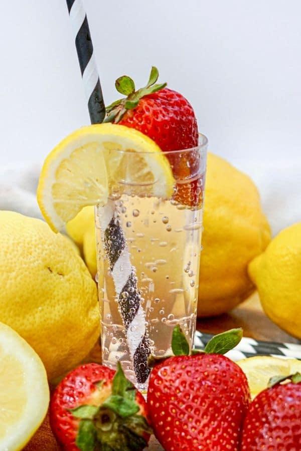 vodka drink with fruit around it