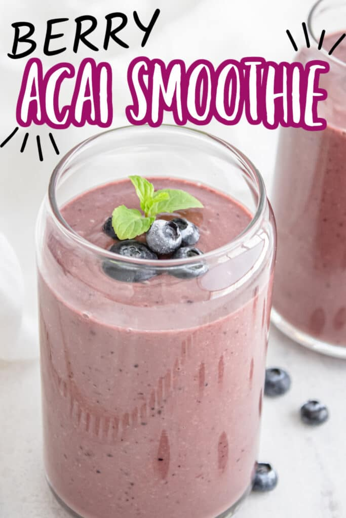 smoothie ON TABLE WITH BERRIES