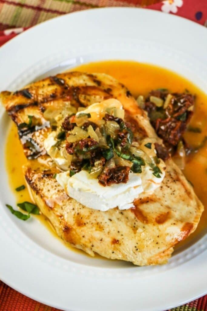 carrabbas chicken on a plate