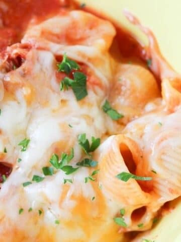 bowl of chicken parmesan pasta
