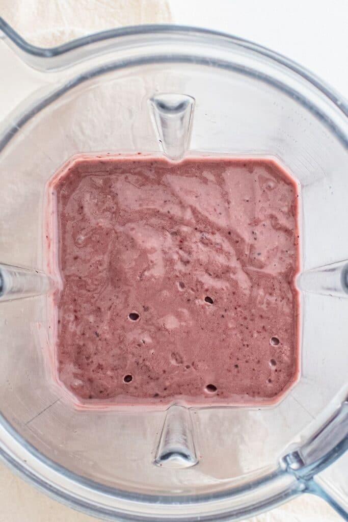dairy free smoothie in a blender