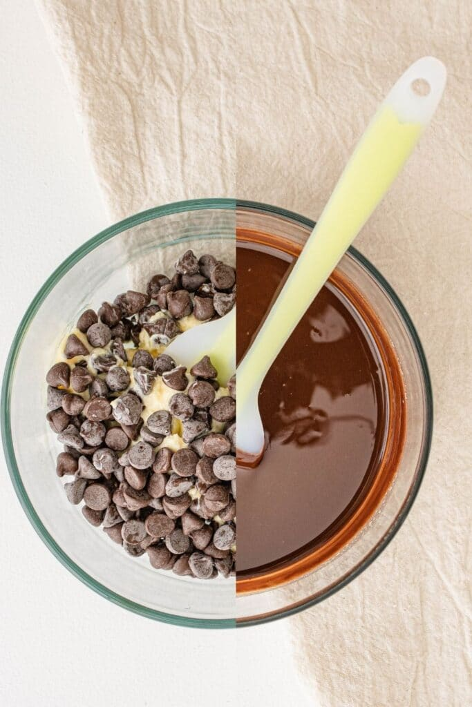 melting chocolate in the microwave