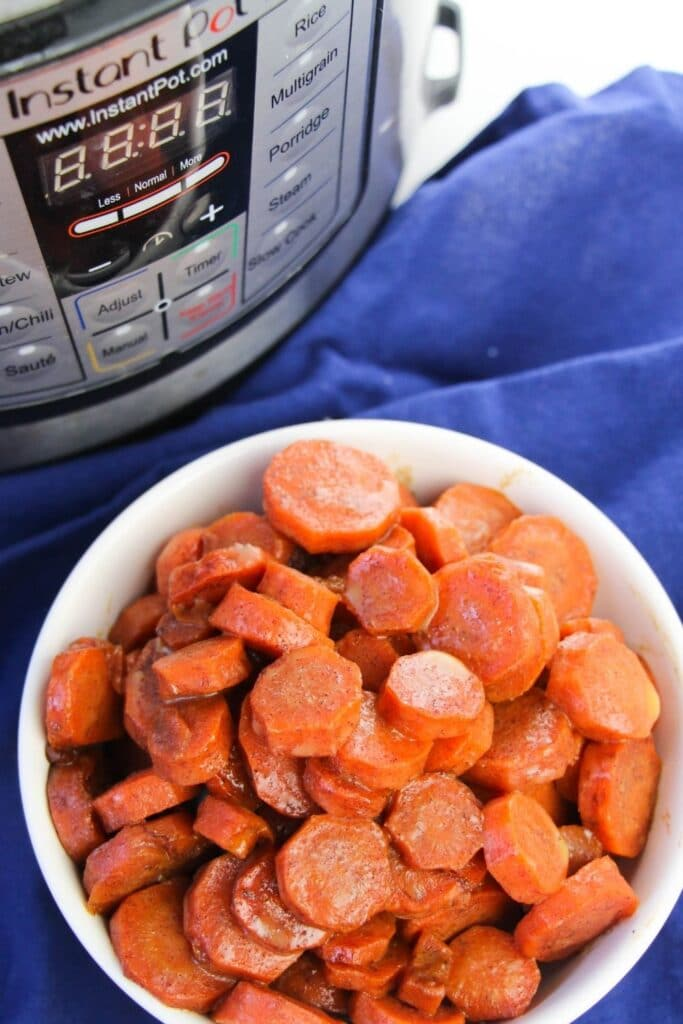 bowl of carrots in Instant Pot