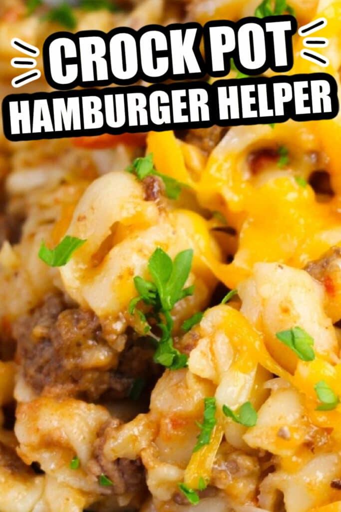 Crock pot hamburger helper