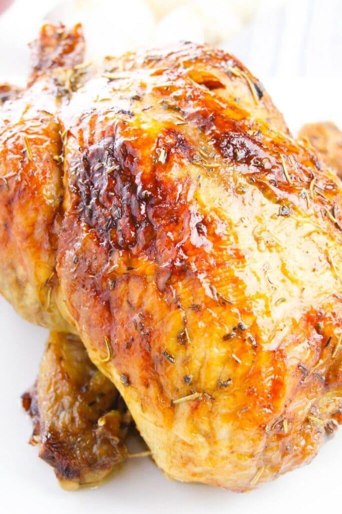 crispy chicken on platter