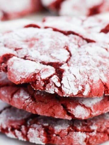 red velvet stacked cookies