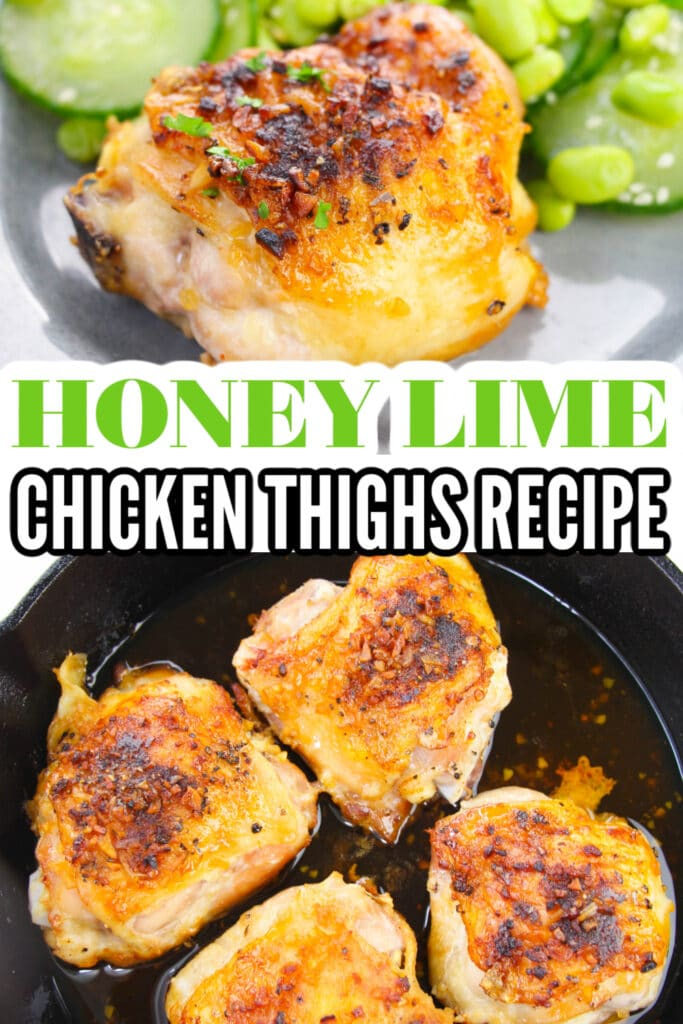Honey Lime Chicken Pinterest Image with Words on what food is
