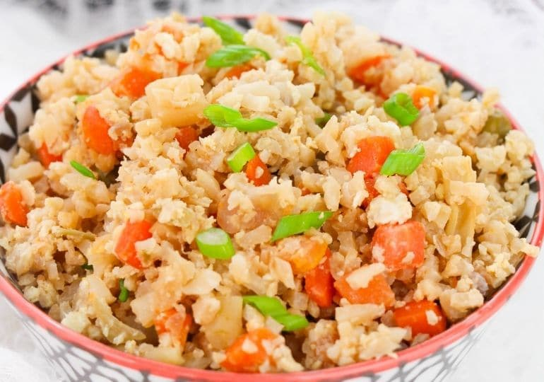 bowl of cauliflower fried rice